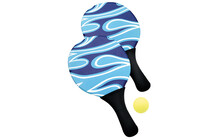 Happy People Beachballspiel Neopren blau